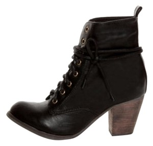 Chelsea Crew Ankle Lace Up Leather Black Boots