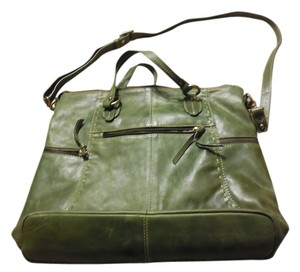 Nino BOSSI Leather Tote in Green