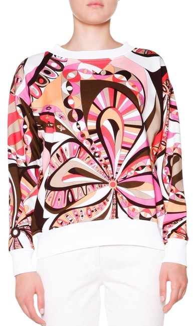 Preload https://img-static.tradesy.com/item/12052228/emilio-pucci-signature-print-new-pinks-white-black-floral-cotton-long-sleeve-40-us-new-with-tags-swe-0-1-650-650.jpg