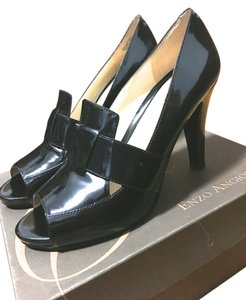 Enzo Angiolini Patent Leather Office Black Pumps