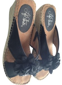 Life Stride Black Wedges