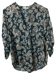 Lush Print Career Weekend Casual Top Green print