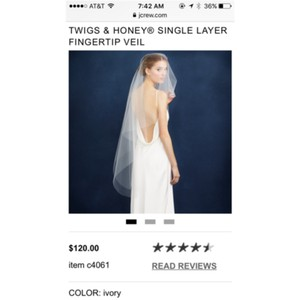 BHLDN Ivory Medium Bridal Veil