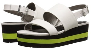 Sam Edelman Sandals Strap white black green Platforms