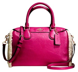 Coach Bennett Crossbody Mini 36689 Satchel in Cranberry/Natural
