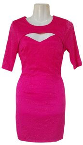 Forever 21 short dress pink Lace Quarter Sleeves Bodycon on Tradesy