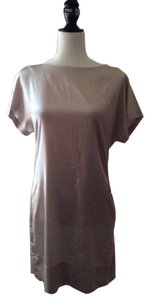 Banana Republic short dress Champagne Silk Shift Mini on Tradesy