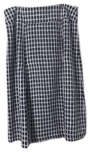 Tweed Chanel Pleated Skirt Pink and Black