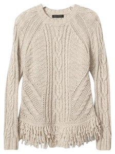 Banana Republic Fringe Hem Chunky Sweater