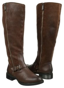 Sam Edelman Riding Suede Metal Silver brown Boots