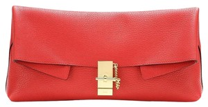 Chloé Red Clutch
