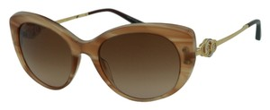 BVLGARI New BULGARI 8141K Women Sunglasses Cat Eye Beige Gold Plated