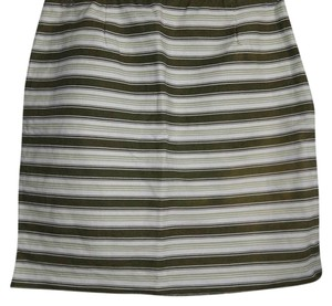 Michael Kors Mini Skirt GREEN AND WHITE STRIPPED