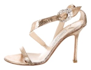 Jimmy Choo Gold Python Formal