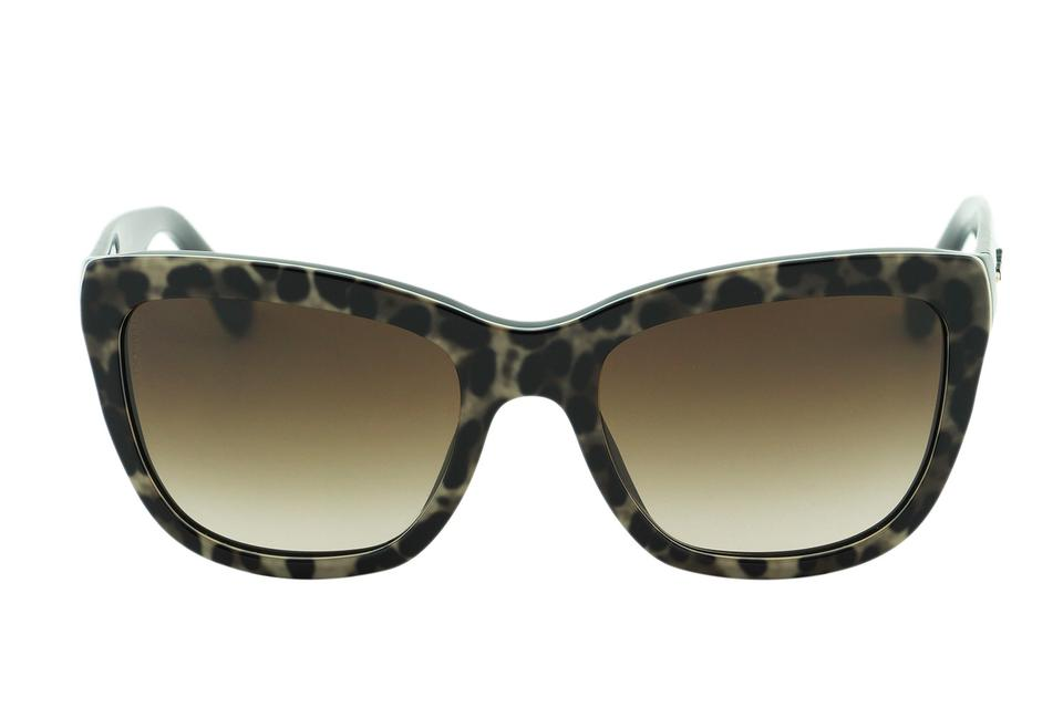 14bbb55dca ... DG 4140 Women Authentic Sunglasses Butterfly Square Brown Animal Print  Lace. 123456
