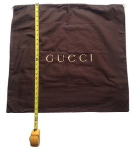 Gucci Dust Cover Drawstring Brown Travel Bag