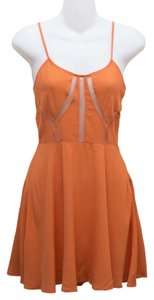 Tobi short dress Orange Cut Out Cute Adorable Affordable Forever 21 H&m Urban Outfitters Hipster Chic Hip Trendy Fun Flirty Posh Vint Zipper on Tradesy