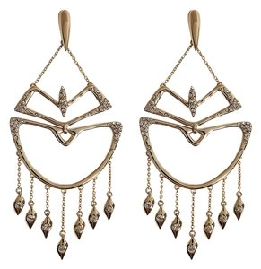 Alexis Bittar NEW Alexis Bittar Kinetic Crystal Encrusted Chandelier Earrings Retail $225 New with Tags