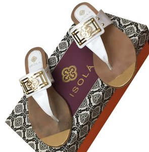 Isola White and gold Sandals
