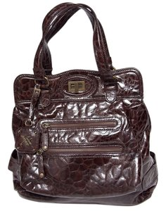 Maxx New York Faux Animal Skin Logo Tag Shoulder Bag