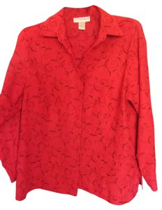 Sag Harbor Top red with black accents