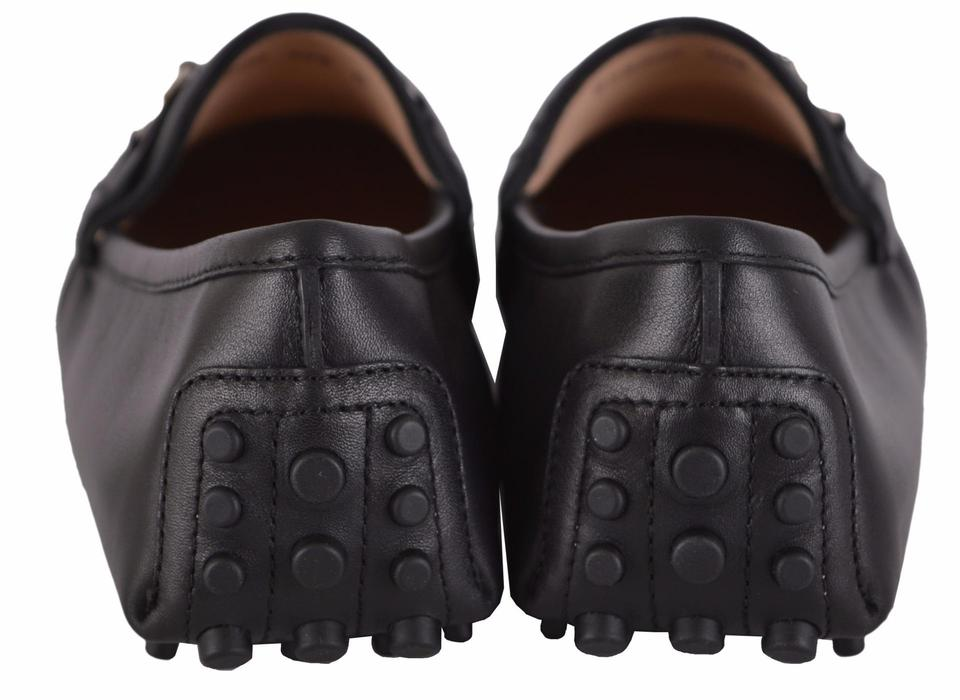 df93a86bb2d Gucci Black Horsebit New Women s 258200 Leather Drivers Loafers 42 ...