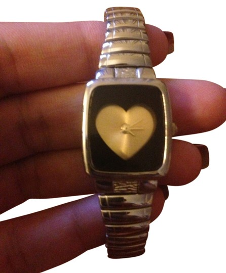 Urban Outfitters Heart Face Window Watch!! Adorable! Stretch Band.