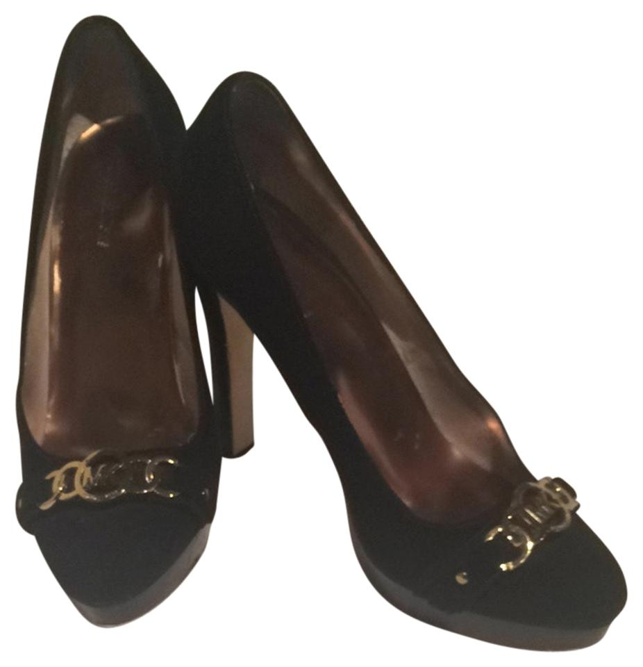 db411b422140 Michael Kors 9 Suede Platform Designer Tory Burch Black Pumps ...