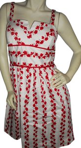R&K Originals short dress Red & White on Tradesy