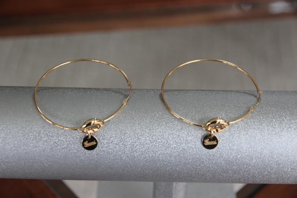 386370cfbbb Gucci 18k Yellow Gold Horsebit Look Absolute Steal New Lower Price From Hoop  Earrings - Tradesy