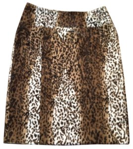 Saks Fifth Avenue Skirt Leopard