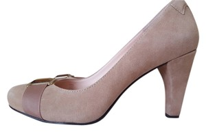 Taryn Rose Suede Pump Beige Formal