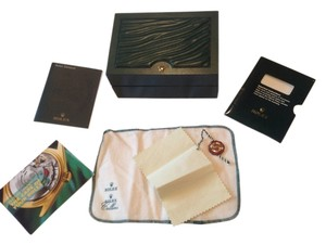 Rolex Rolex watch box hard case only with original watch hologram tag, papers, and dusting cloths