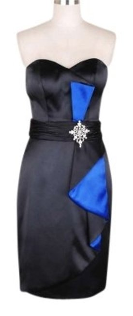 Preload https://img-static.tradesy.com/item/120579/black-little-stunning-satin-with-blue-knee-length-cocktail-dress-size-12-l-0-0-650-650.jpg