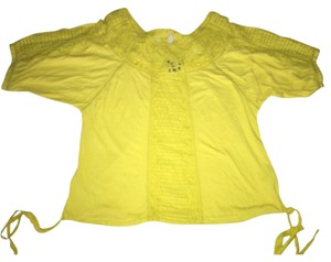 Anthropologie Top Neon yellow