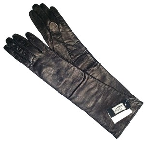 Versace Gianni Versace Black Long Leather Gloves