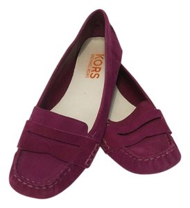 Michael Kors Suede All Leather Purple Flats