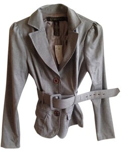 Grass Collection Belt Belted Proffessional Grey Blazer