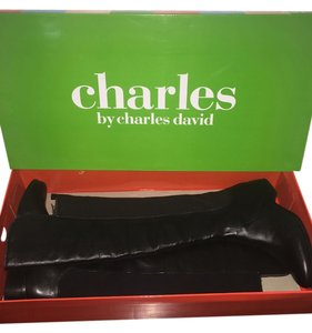 Charles by Charles David Leather Over The Knee Black Boots