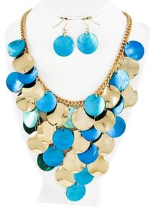 DaVinci Bridal Turquoise Shell Necklace & Earrings