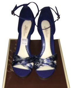 Lela Rose for Payless Blue Wedges