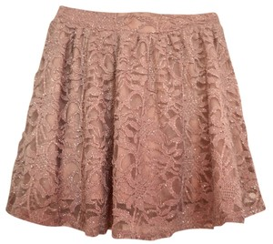 Miss Selfridge Glittery Mini Skirt Rose Pink