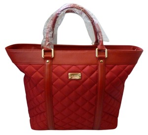 St. John Quilted Large Logo Nwt Tote in Red
