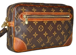 0a07293fc729 Louis Vuitton Lv Monogram Marly Marly Dragonne Clutch Purse Pocketbook  Handbag Hand Accessory Accessories Vintage Distress