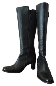 Cole Haan Double Zipper Black Boots