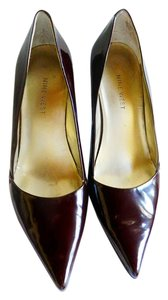 Nine West Patent Leather Wine burgundy Pumps