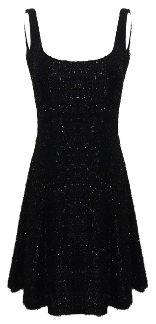 Stephen Sprouse Black Knee Length Cocktail Dress Size 8 (M) Stephen Sprouse Black Knee Length Cocktail Dress Size 8 (M) Image 1