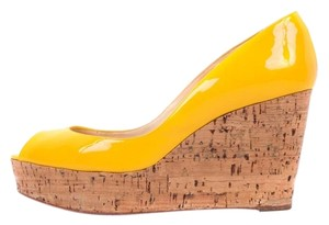 Christian Louboutin Yellow Wedges