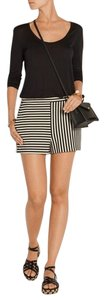 Tibi Striped Cotton Dress Shorts Black
