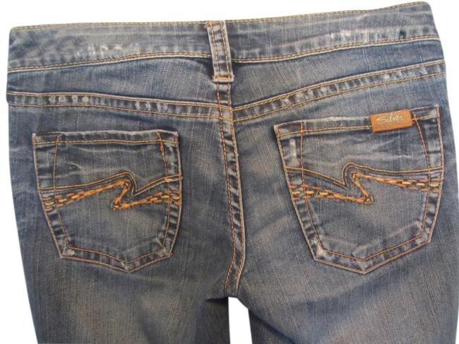 "Item - Blue Distressed Tuesday 20"" Flare Leg Jeans Size 28 (4, S)"
